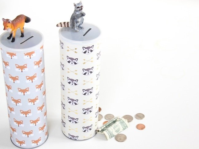 fox-and-raccoon-diy-piggy-bank-for-kids-money