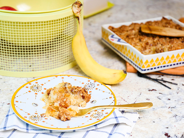 Easy Banana Bread Cobbler Recipe