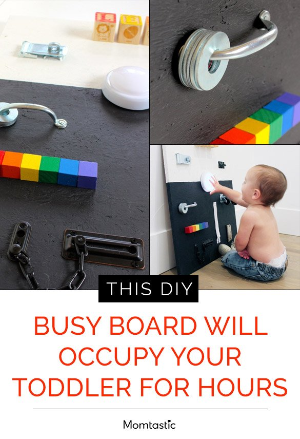 This DIY Busy Board Will Occupy Your Toddler For Hours