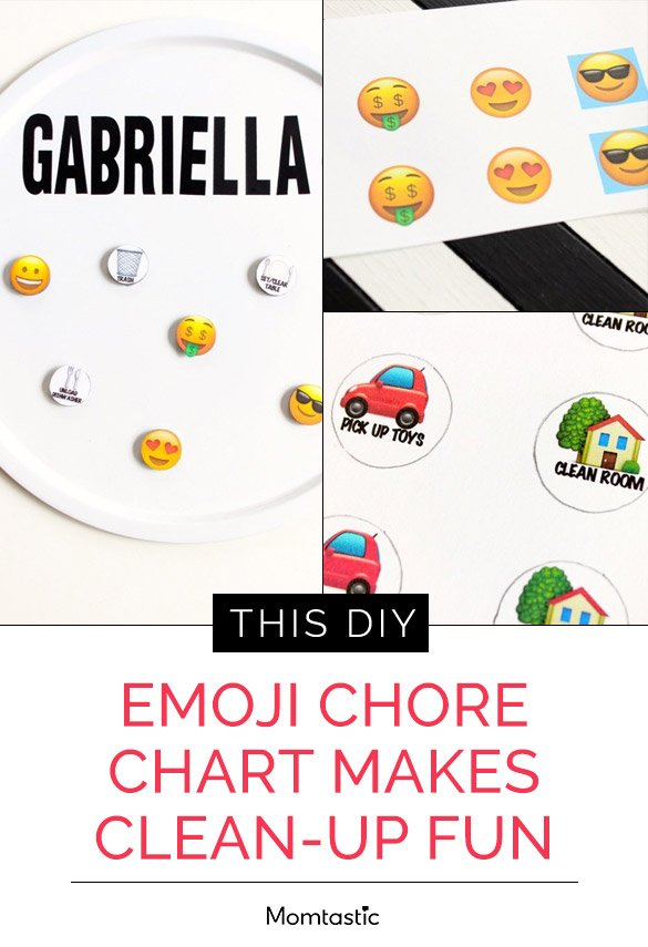 This DIY Emoji Chore Chart Makes Clean-Up Fun