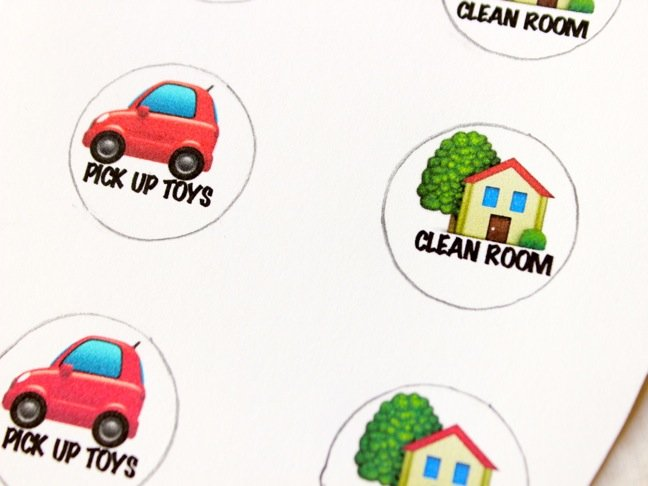 This Diy Emoji Chore Chart Makes Clean Up Fun