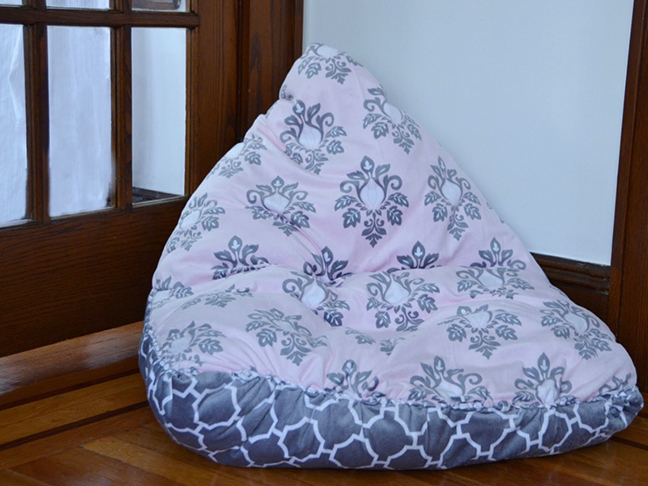 This No Sew Diy Bean Bag Chair Is A Snap To Make