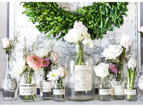 Decorating with apothecary jars