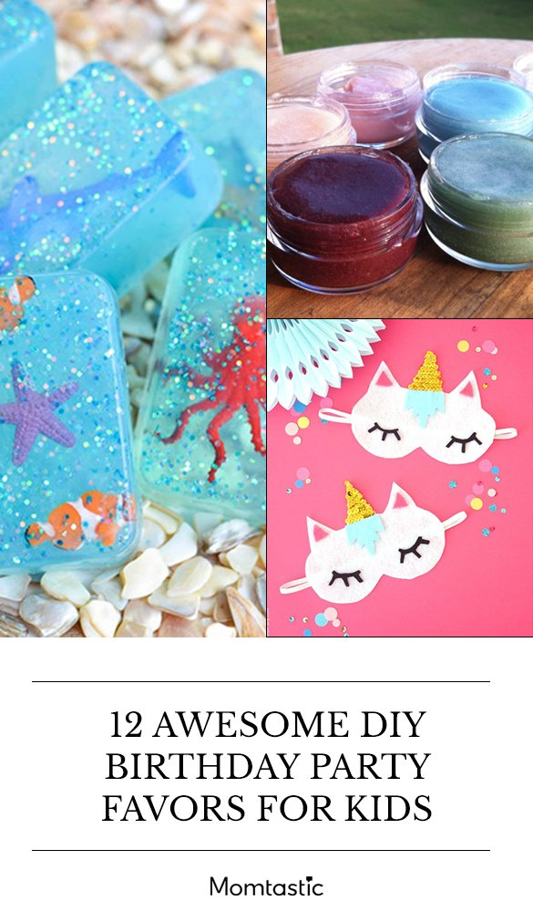 12 Awesome DIY Birthday Party Favours For Kids