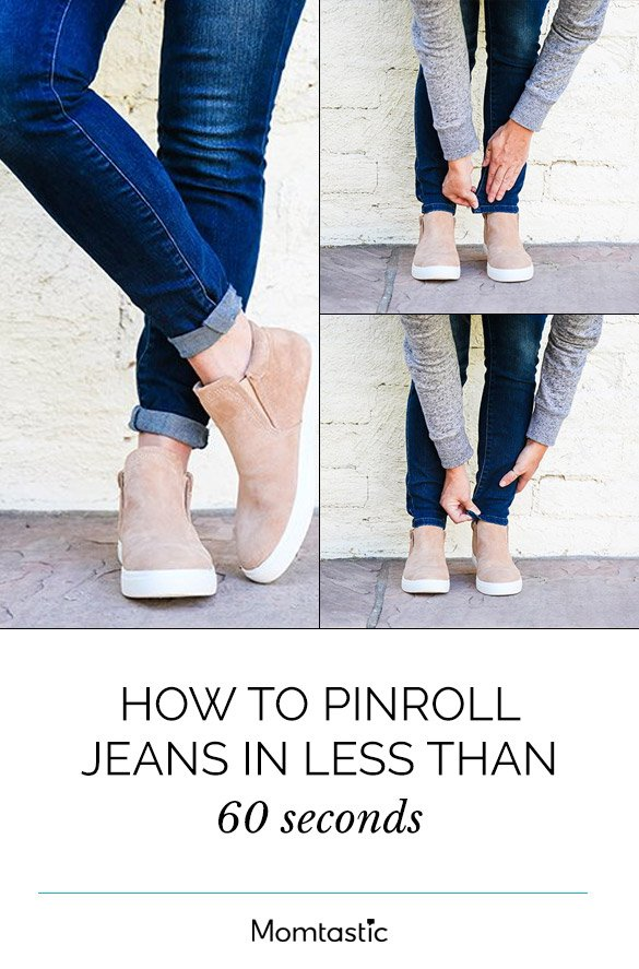 How To Pinroll Jeans In Less Than 60 Seconds