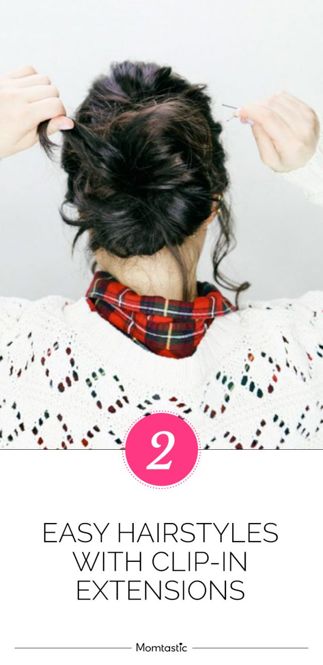 2 Easy Holiday Hairstyles With Clip-In Extensions (Tutorial)