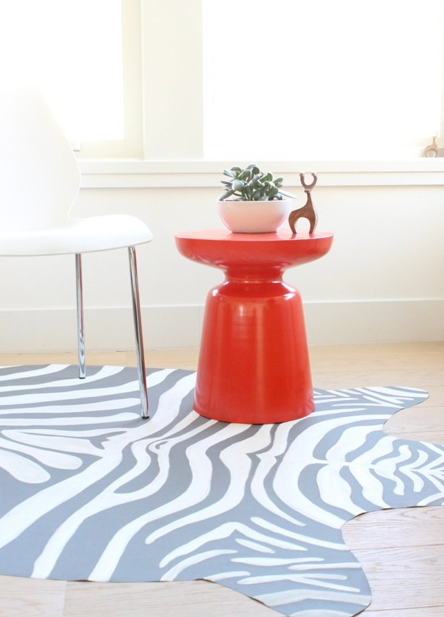 Walk On The Wild Side With A DIY Zebra Print Rug