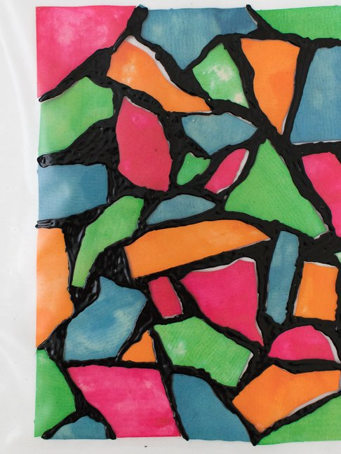 How to Make Faux Stained Glass with Dyed Pasta