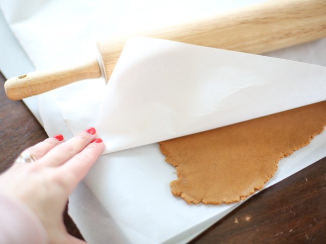 Rolled gingerbread dough