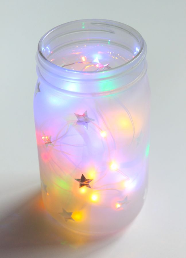 mason-jar-with-multi-color-fairy-twinkle-lights