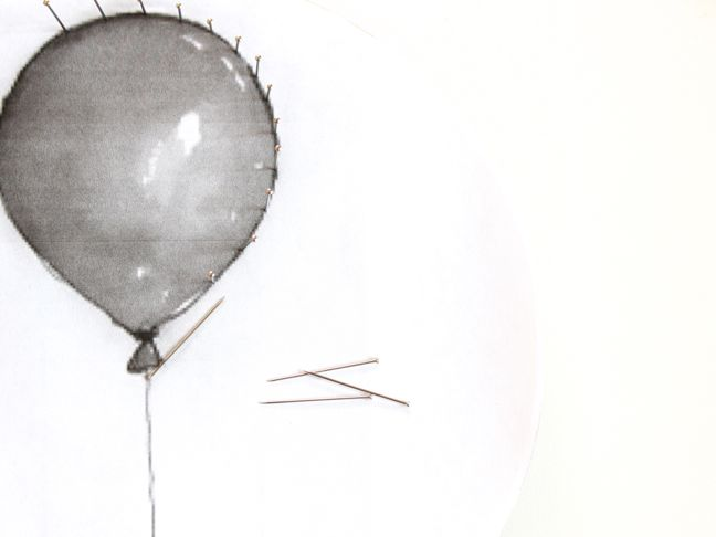 black-and-white-balloon-with-push-pins