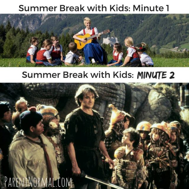 The funniest memes about summertime with the kids on @itsMomtastic by Kim Bongiorno featuring The ParentNormal