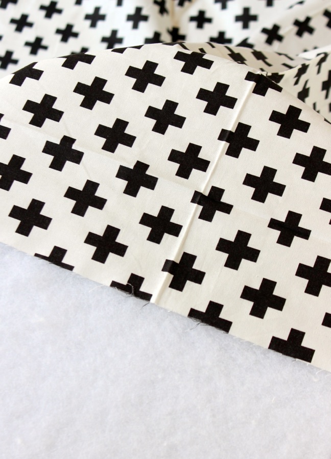 black-and-white-cross-fabric