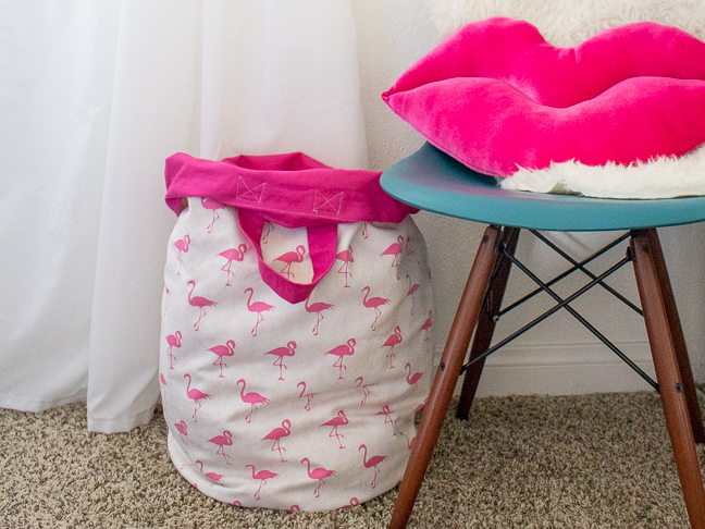 Sew a Washable Laundry Hamper for Kids for Easy Cleanup