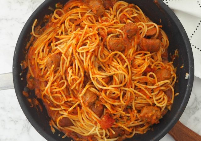 Spaghetti with Cheats Meatballs