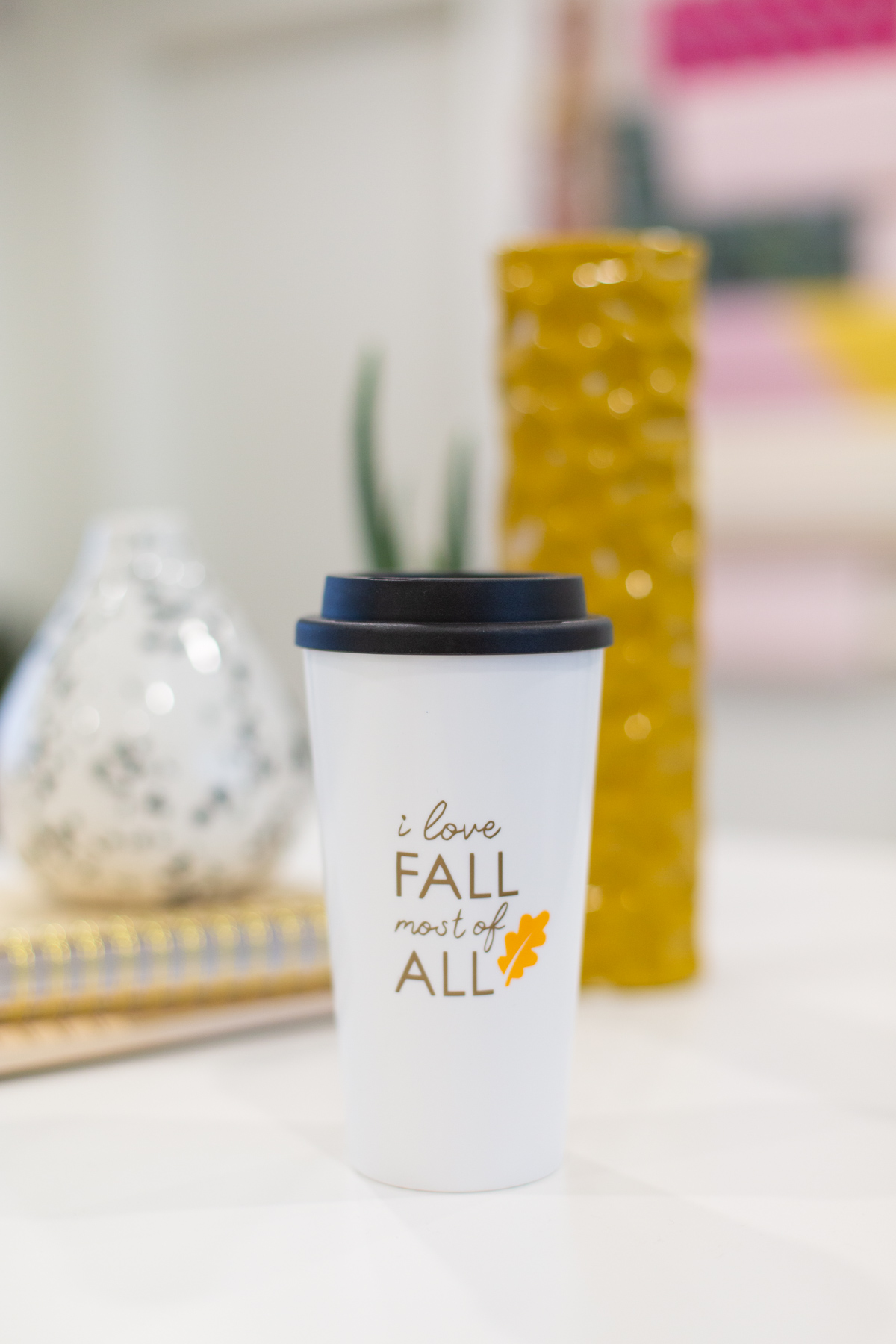 DIY fall travel mug