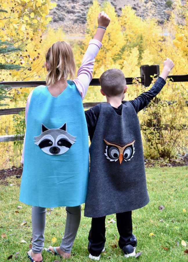 Calling All Superheroes: Make DIY No-Sew Capes This Fall
