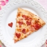 Pizza with Heart-Shaped Pepperoni
