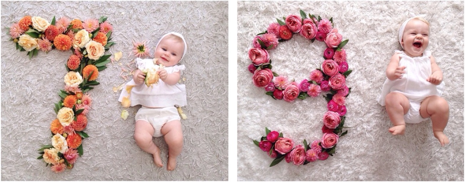 Absolutely Adorable Ideas For Month By Baby Photos