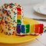 Rainbow Layered with Sprinkles on Top