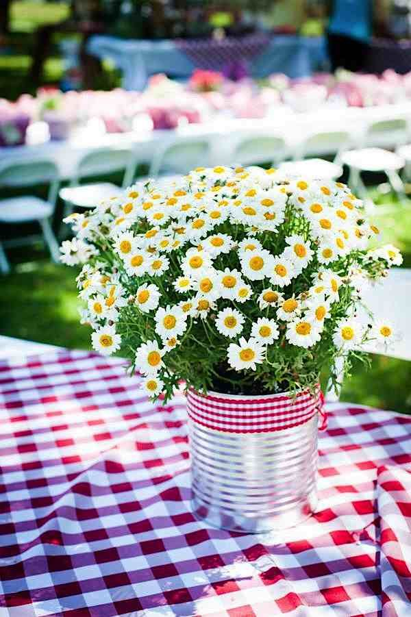 Picnic Style Bucket of Flowers