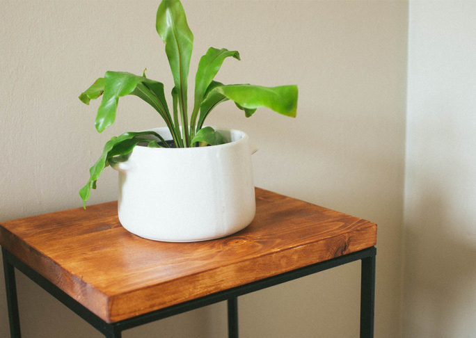 Side Table From A Hamper