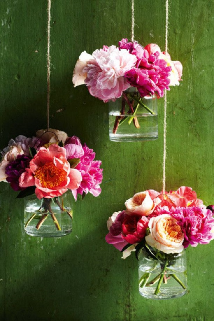 make wall vases - Common Flowers In Arrangements