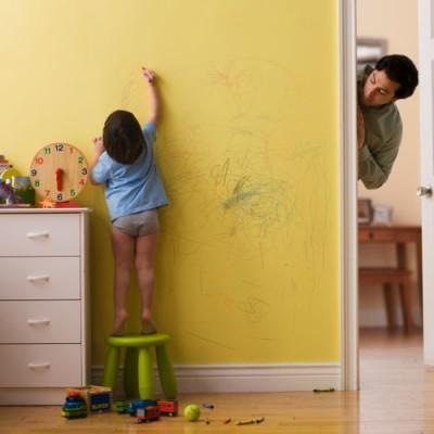 how to clean crayons off painted walls