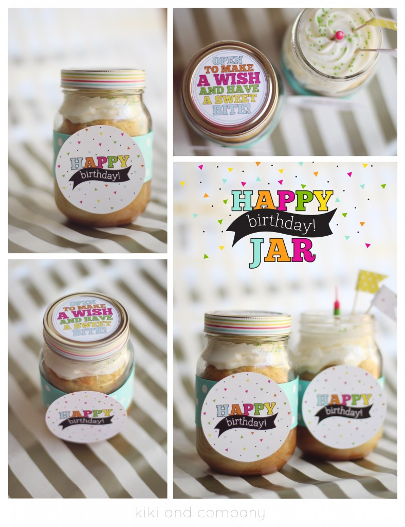 Make a Birthday Cake in a Jar!