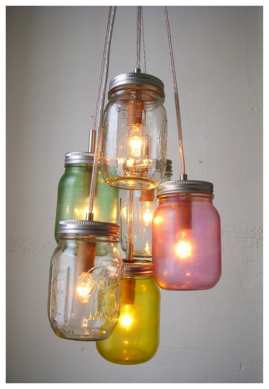 Home Decor: Clustered Light Jars