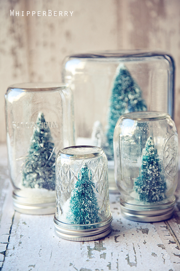 Home Decor: Snow Globe Jars