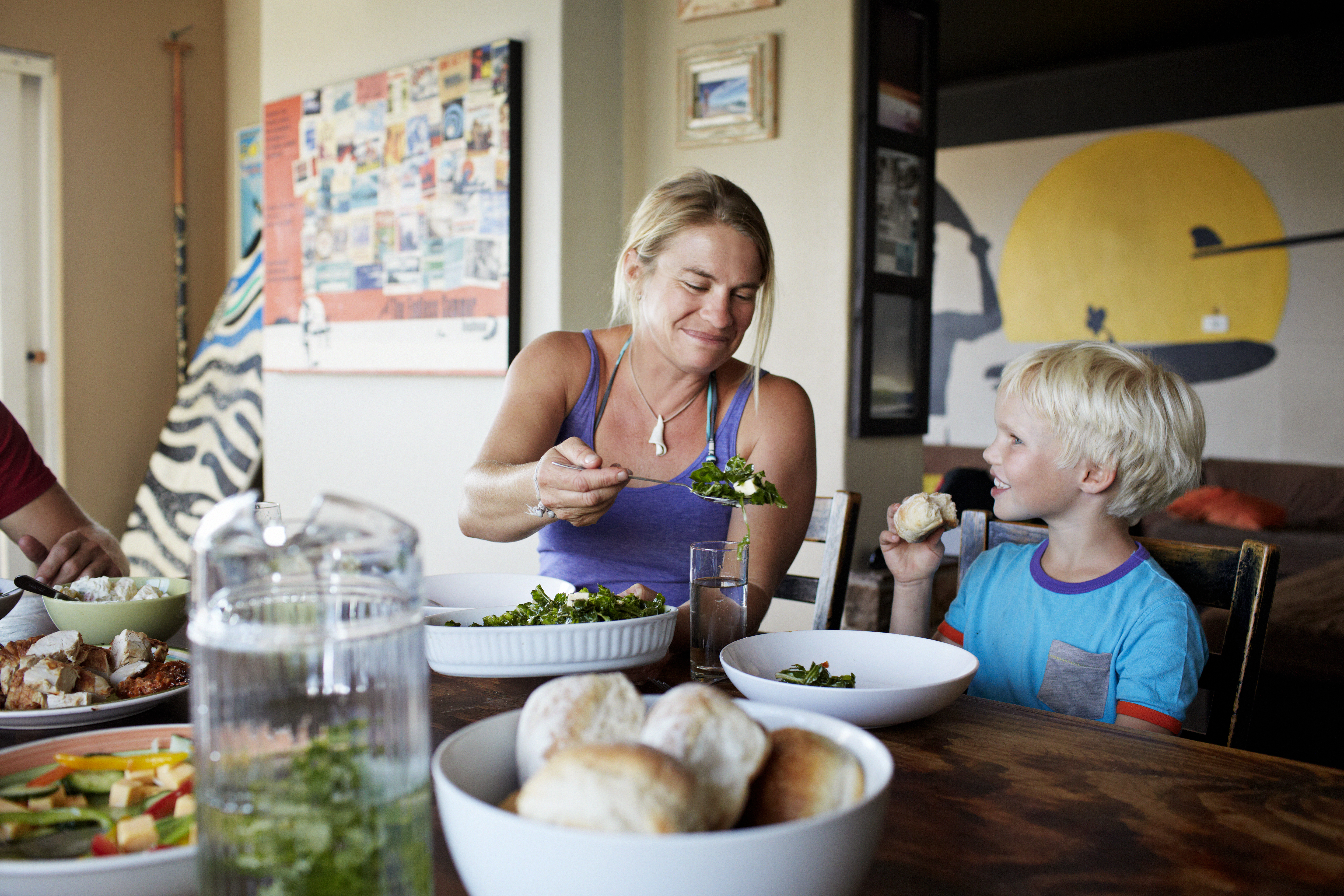 Eat dinner at the table as a family