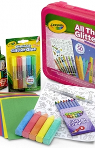 Crayola All That Glitters Art Case Colouring Set