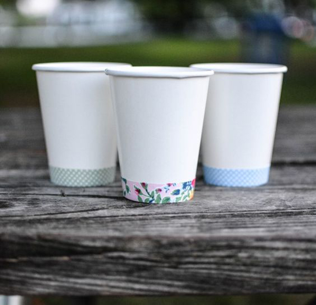 Add Washi Tape to Cups