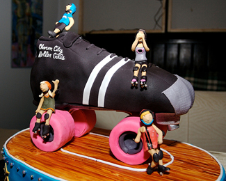 Roller Derby Birthday Cake