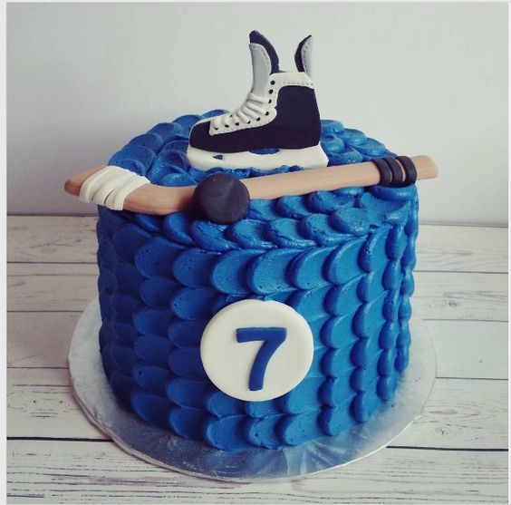 Simple Hockey Birthday Cake