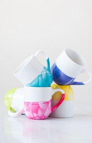 Marble Dipped Mugs