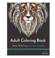 Adult Colouring Book: Stress Relieving Animal Designs by Blue Star Coloring