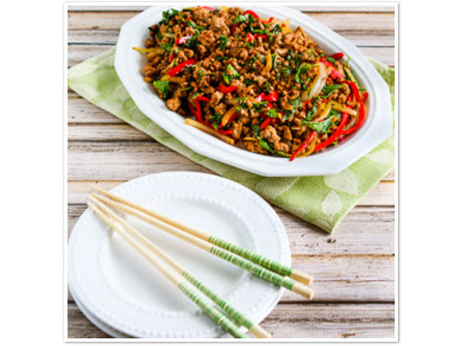 Thai-Inspired Ground Turkey Stir-Fry with Basil and Peppers