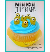Jelly Bean Minion Cupcakes