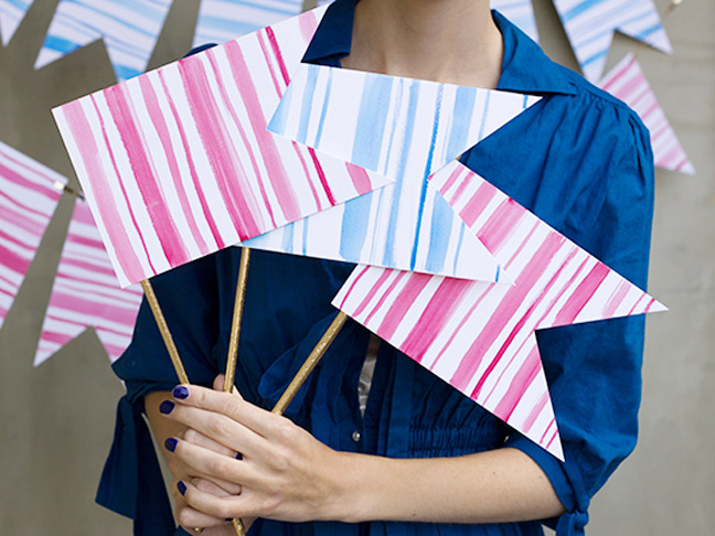 Watercolor Bunting Flags