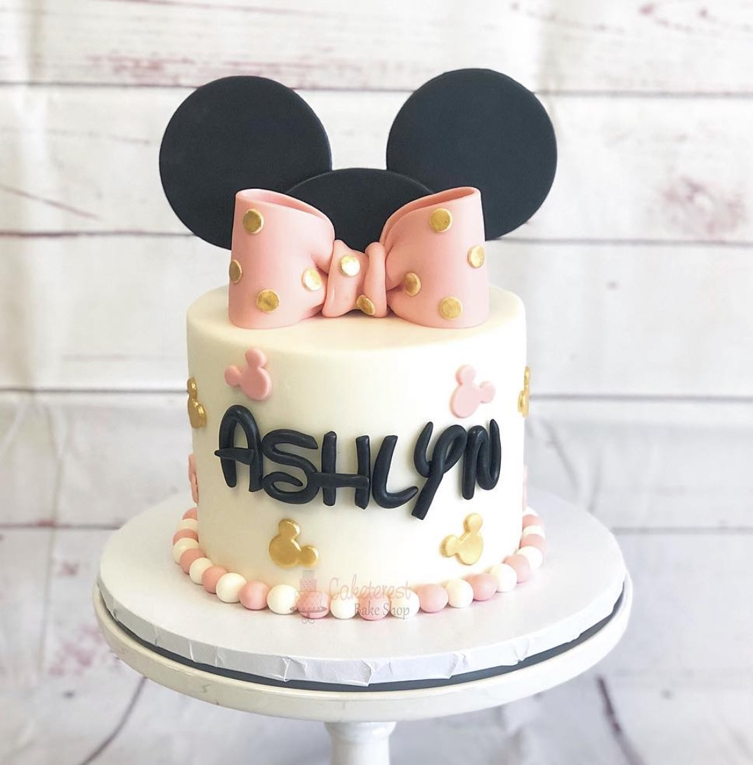 Not-so-Basic Minnie Mouse Cake