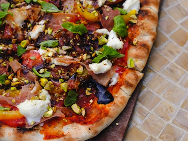 Rustic Grilled Peaches Pizza Murphy s Pizza Recipe — Dishmaps