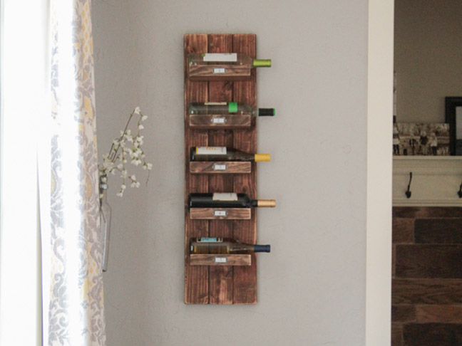 Vertical Wood Wine Rack 2