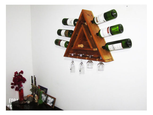 Triangular Pallet Wine Rack