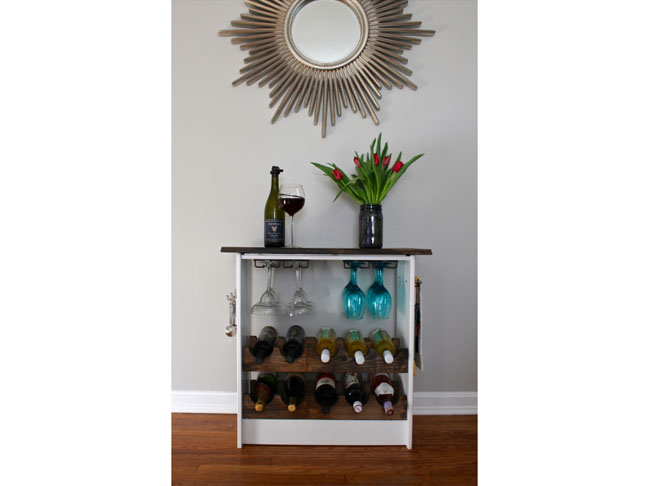 IKEA Dresser Hack Wine Rack