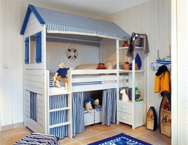 Nautical Nighttime Bunk. 31 IKEA Bunk Bed Hacks That Will Make Your Kids Want To Share A Room