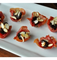 Fig Almond Filled Prosciutto Cups