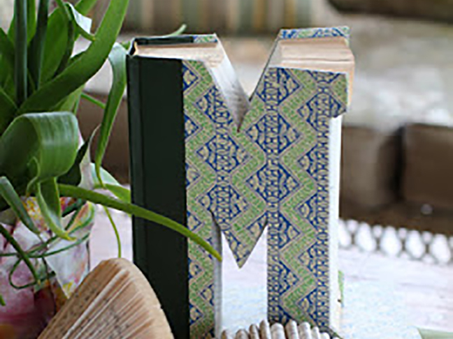 Monogrammed Altered Book