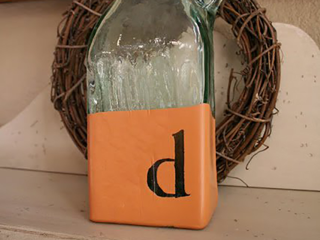Monogrammed Dipped Glassware